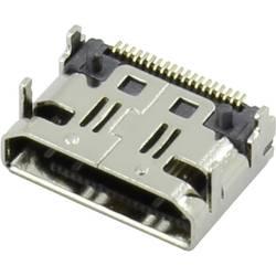 HDMI konektor Attend 206G-SXAN-R01 - zásuvka, vestavná horizontální, stříbrná, pozlacené kontakty, 1 ks