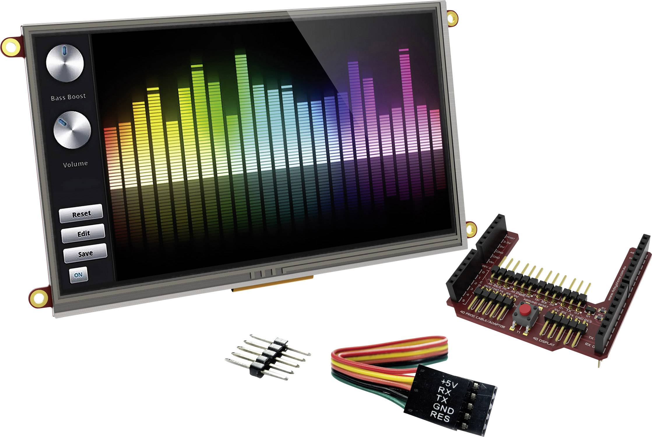 Vývojová deska 4D Systems uLCD-70DT-AR
