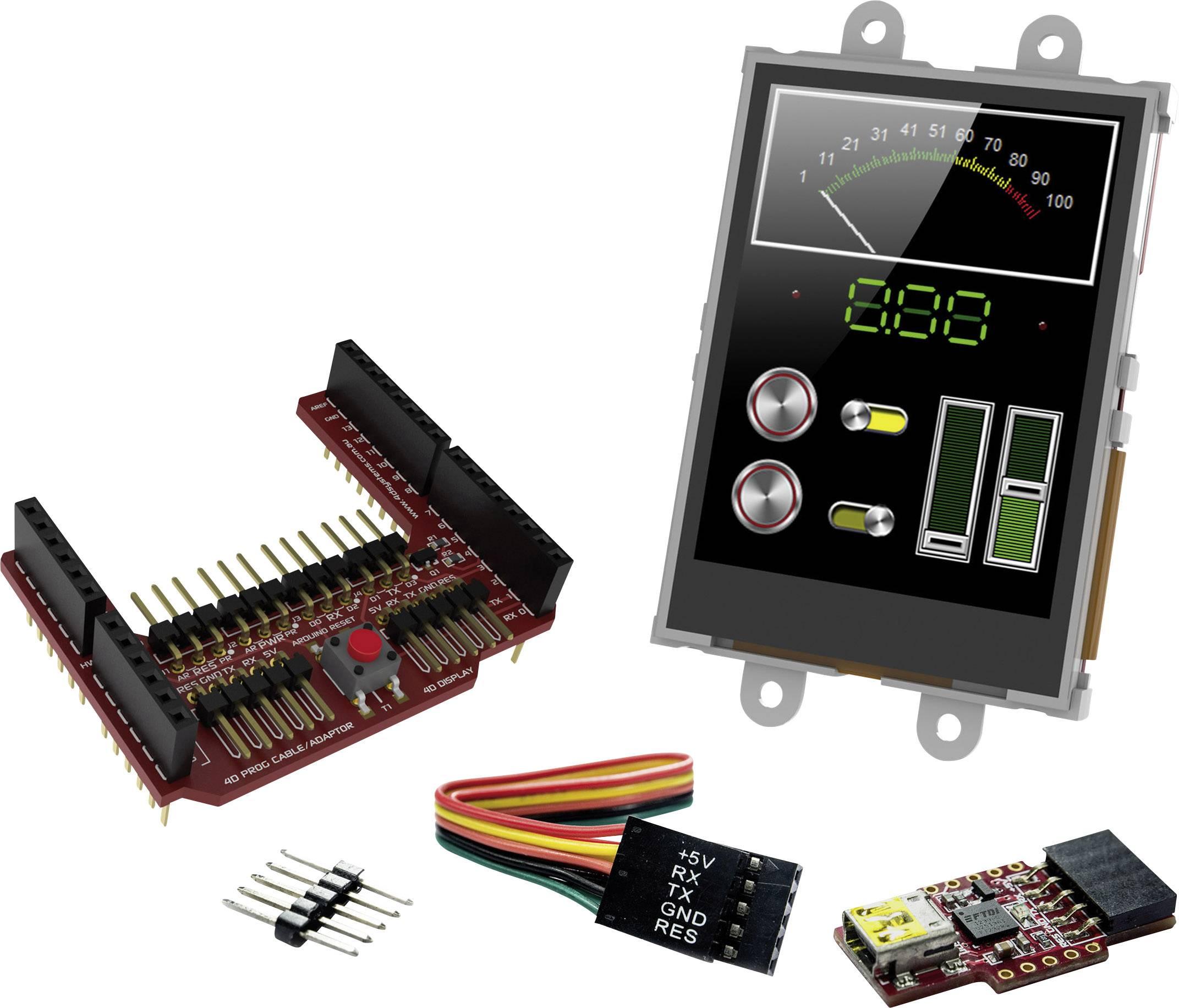 Vývojová deska 4D Systems SK-24PTU-AR