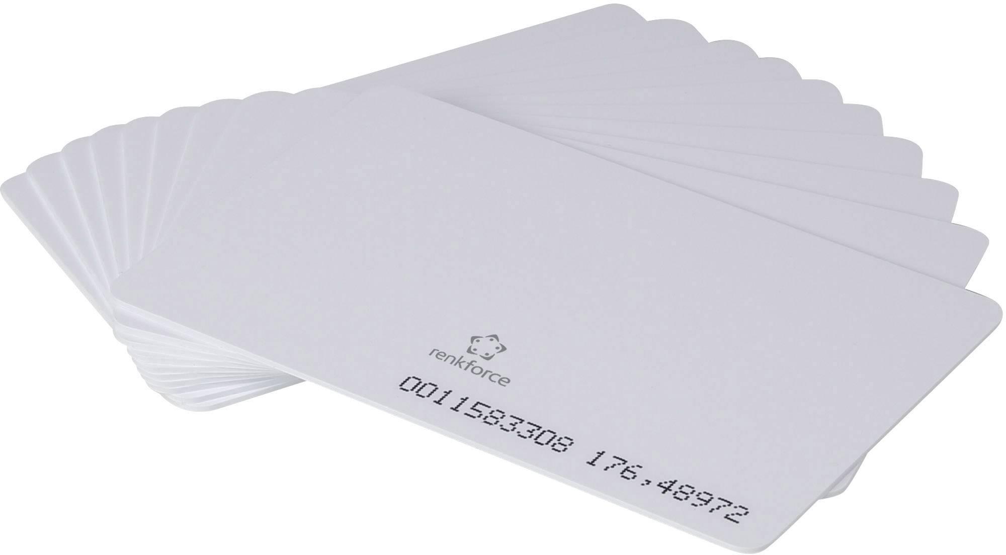 Transponderová karta, balenie 10 ks RENKFORCE