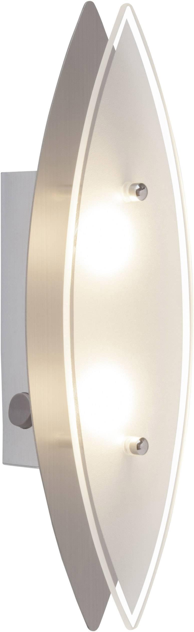 LED nástenné svetlo Brilliant ovalna G94327/13, 6 W, teplá biela, chróm