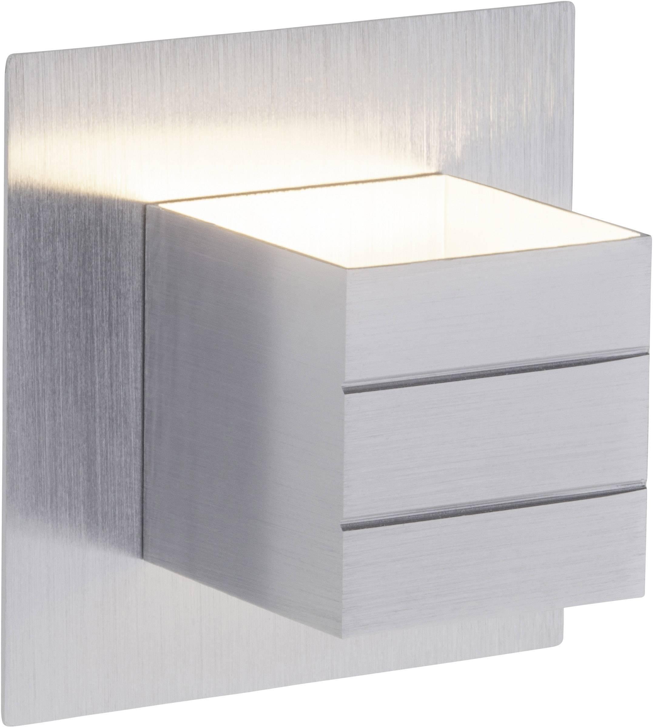 LED nástěnné světlo Brilliant Fixed G94330/21, 6 W, teplá bílá, hliník