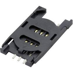 Zásuvka na kartu SIM Attend 115B-AAA0-R01, počet kontaktov 6, 1 ks