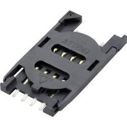 Zásuvka na kartu SIM Attend 115B-BAA0-R01, počet kontaktov 8, 1 ks