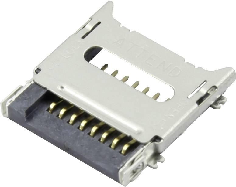 Zásuvka na kartu microSD Attend 112C-TBAR-R02, 1 ks