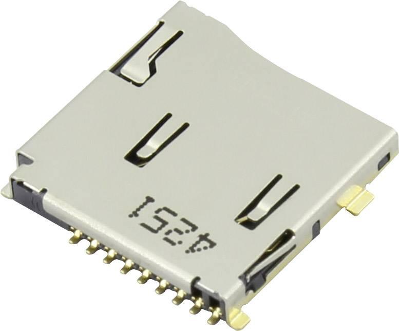Zásuvka na kartu microSD Attend 112J-TDAR-R01, 1 ks