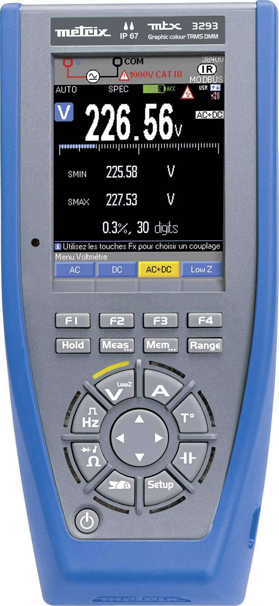 Ručný multimeter Metrix MTX3293-BT