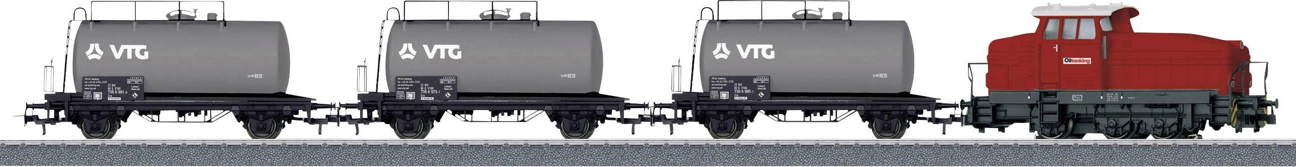 Dieselová nákladní souprava Märklin Start up 26569 H0, cisternové vagóny