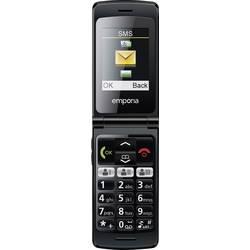 Emporia FlipBasic telefon pro seniory nabíjecí stanice, tlačítko SOS černá