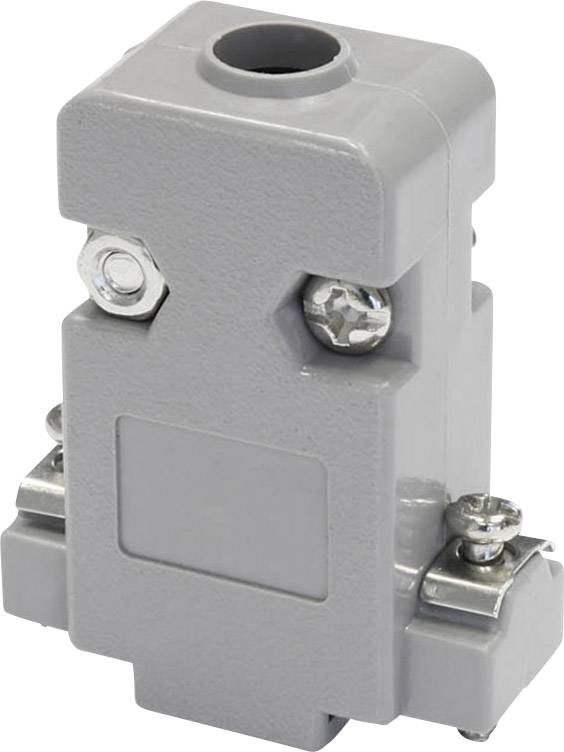 D-SUB pouzdro econ connect PH9, Pólů: 9, plast, 180 °, šedá, 1 ks