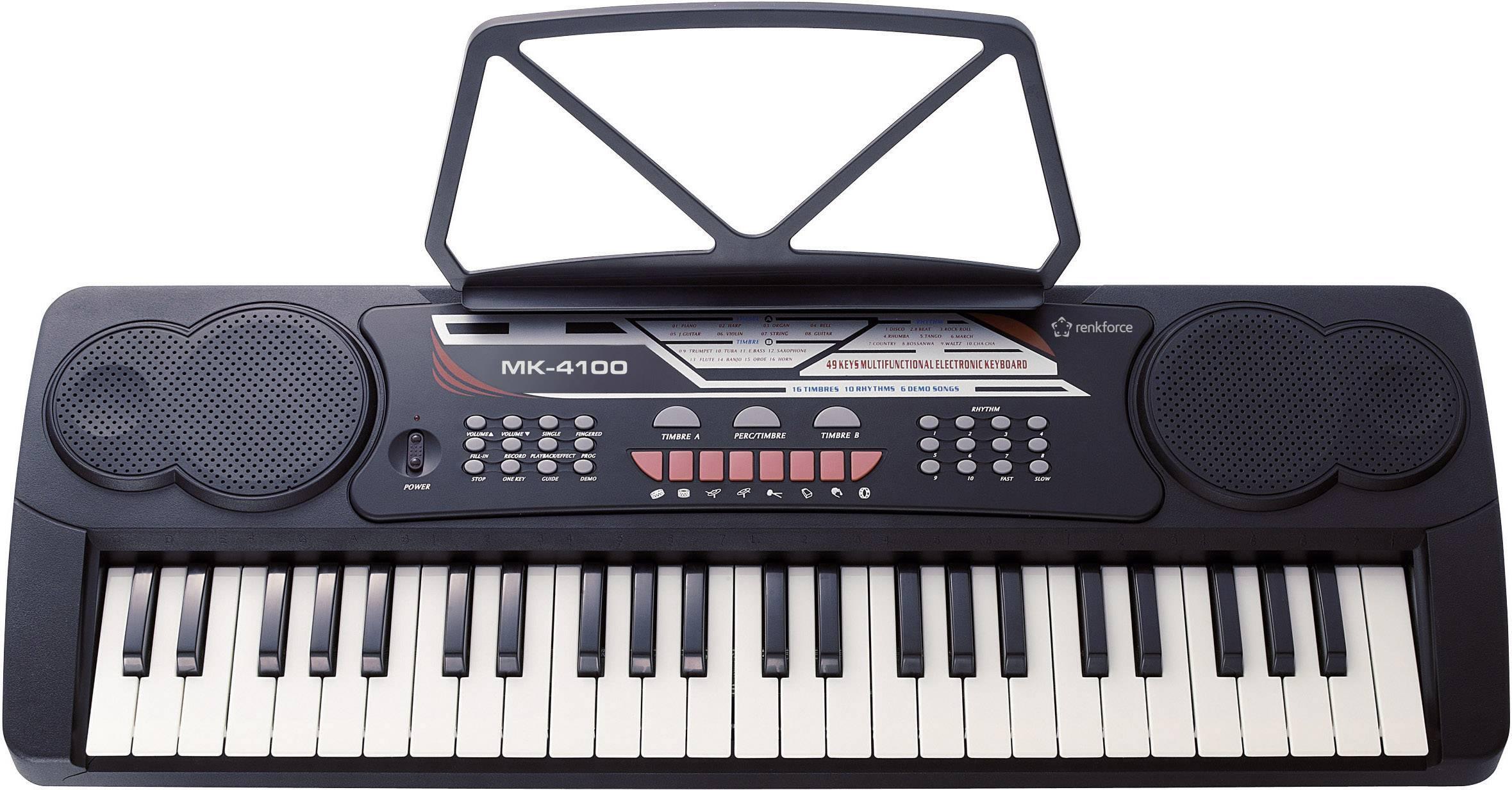 Elektronické klávesy RENKFORCE MK-4100, čierna