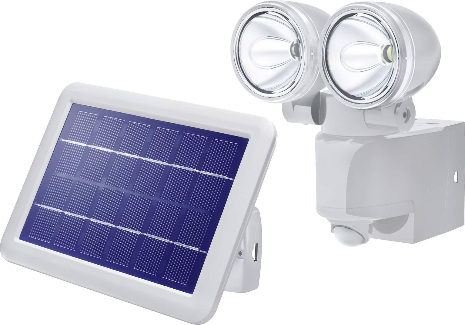 Solární LED svítidla s detektorem pohybu Esotec Power Light, černá, panel 2 W