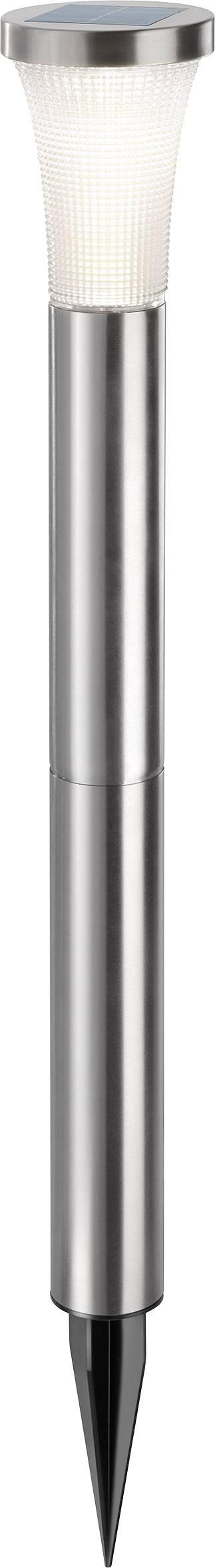 LED solární zahradní svítidlo Esotec Tower Light 102603, IP44, nerezová ocel, teplá bílá