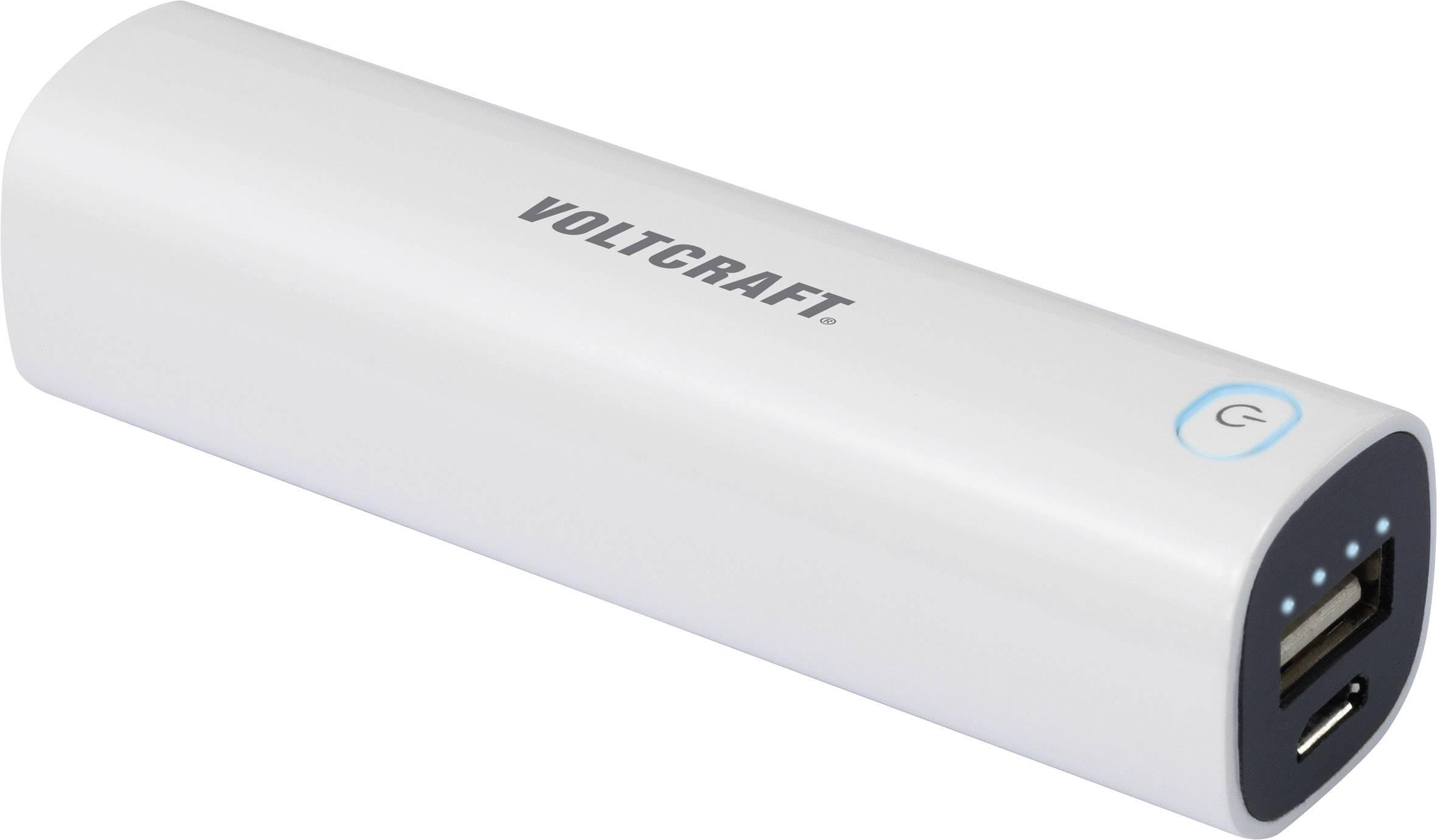 Powerbanka VOLTCRAFT PB-14, Li-Ion akumulátor 2600 mAh, bílá