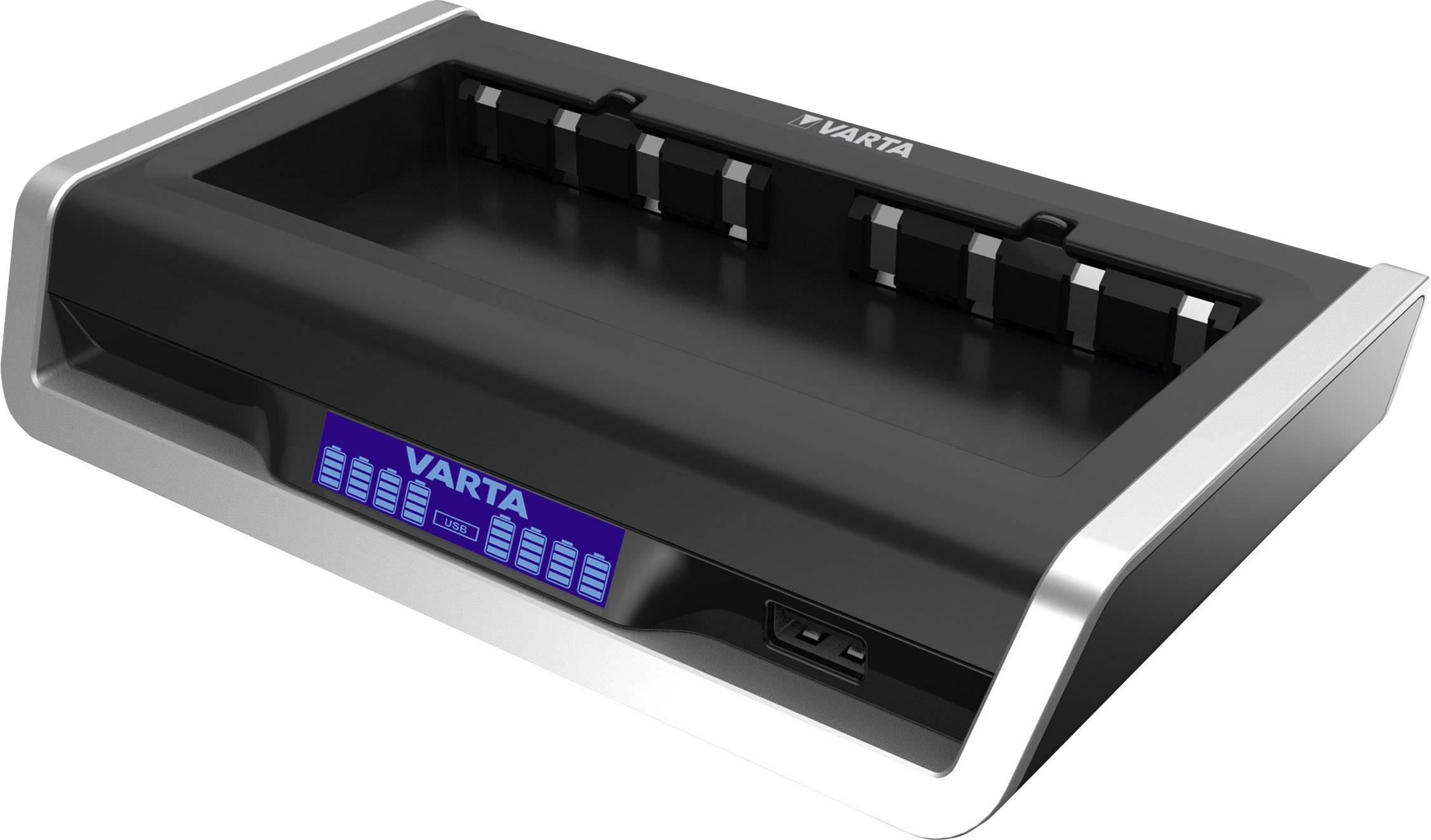 Nabíjačka akumulátorov (baterií) s LCD pre 8 článkov AA / AAA Varta Multi, USB