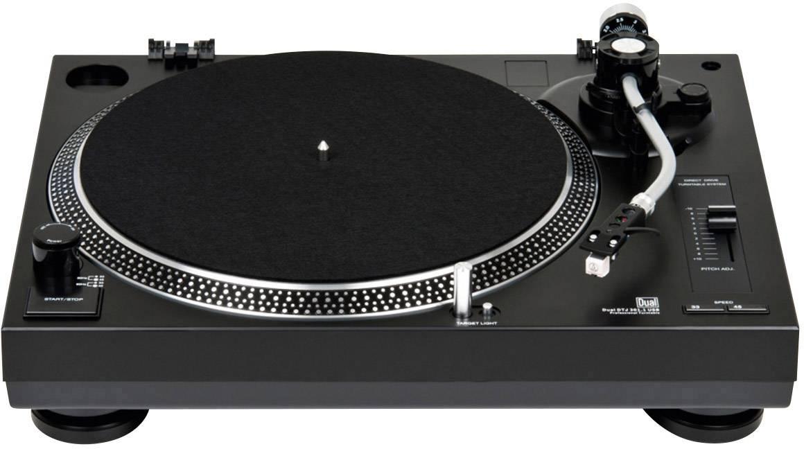 USB gramofon Dual DTJ 301.2 USB, přímý pohon, černá