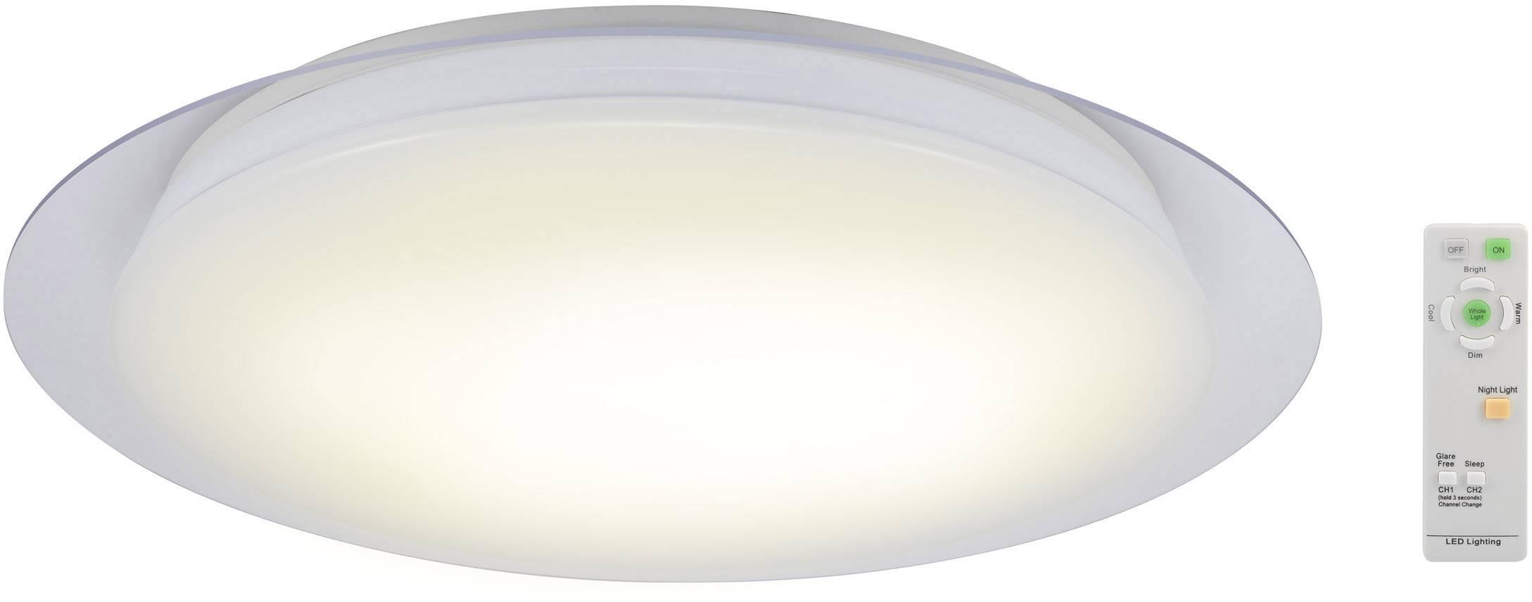 LED stropné svietidlo Renkforce Malaga 1 1315519, 37 W, vonkajší Ø 51 cm, teplá biela, chladná biela, denné svetlo, biela