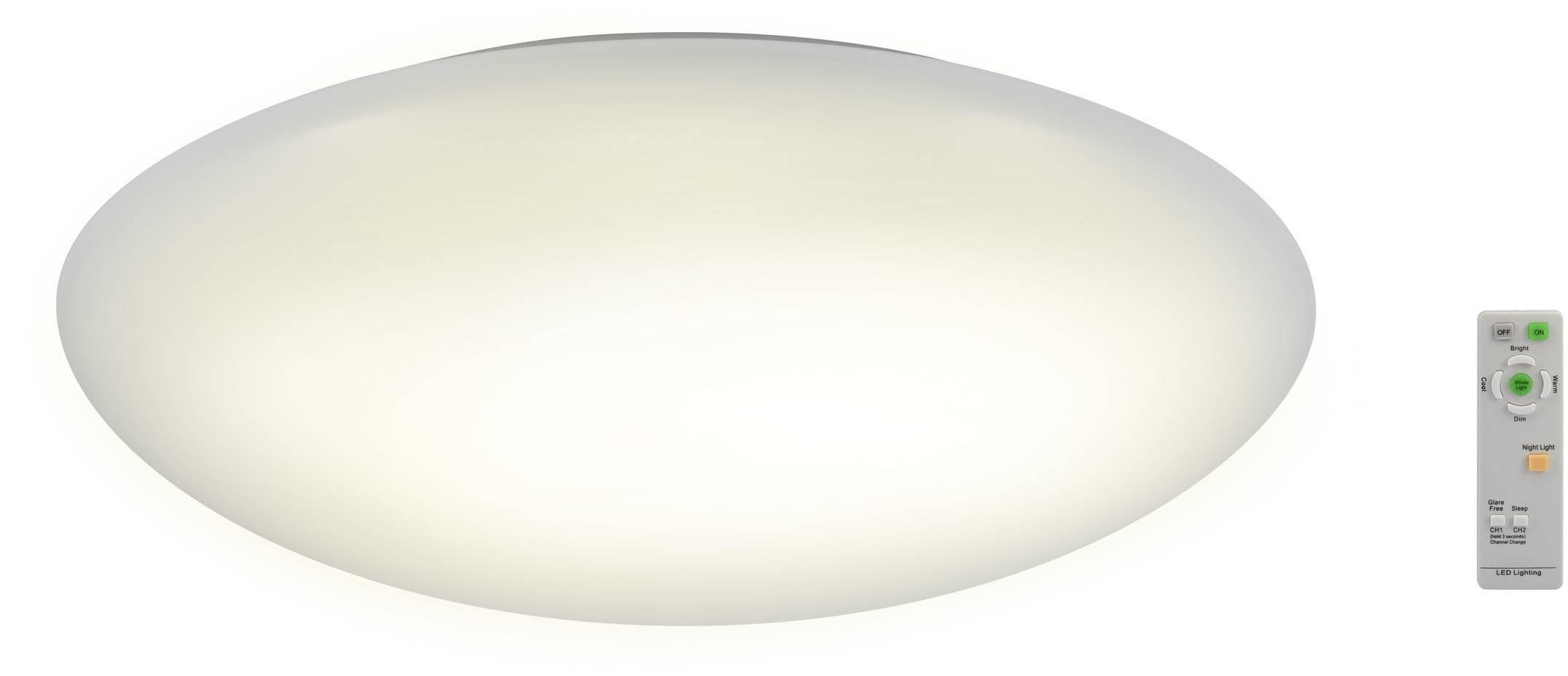 LED stropné svietidlo Renkforce Malaga 3 1315525, 45 W, vonkajší Ø 60 cm, teplá biela, chladná biela, denné svetlo, biela