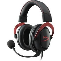 HyperX Cloud II herní headset na kabel přes uši, jack 3,5 mm, červená