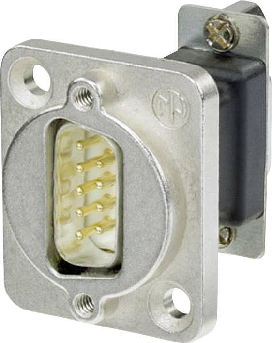 D-SUB adaptér Neutrik NADB9MF, D-SUB zástrčka 9pólová - D-SUB zásuvka 9pólová, 1 ks