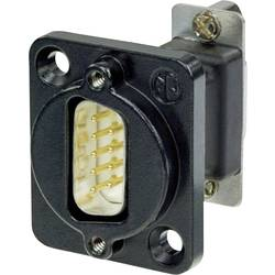 D-SUB adaptér Neutrik NADB9MF-B, D-SUB zástrčka 9pólová - D-SUB zásuvka 9pólová, 1 ks