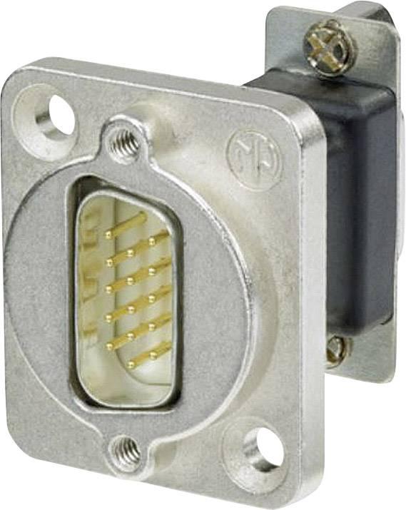 D-SUB adaptér Neutrik NADB15MF, D-SUB zástrčka 15pólová - D-SUB zásuvka 15pólová, 1 ks