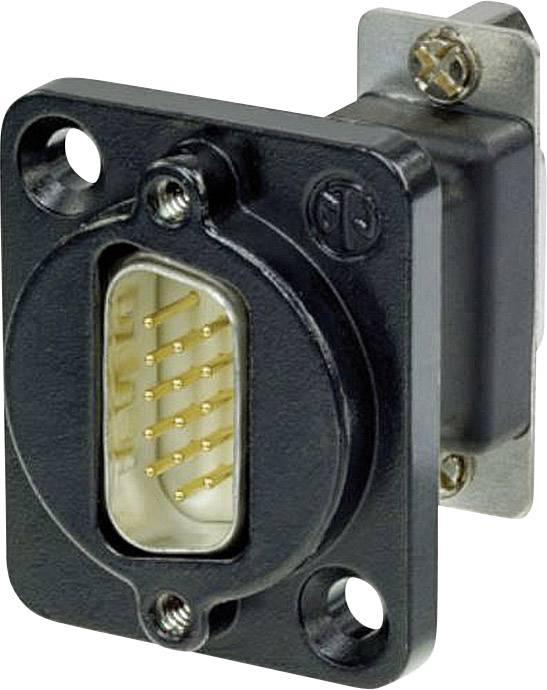 D-SUB adaptér Neutrik NADB15MF-B, D-SUB zástrčka 15pólová - D-SUB zásuvka 15pólová, 1 ks