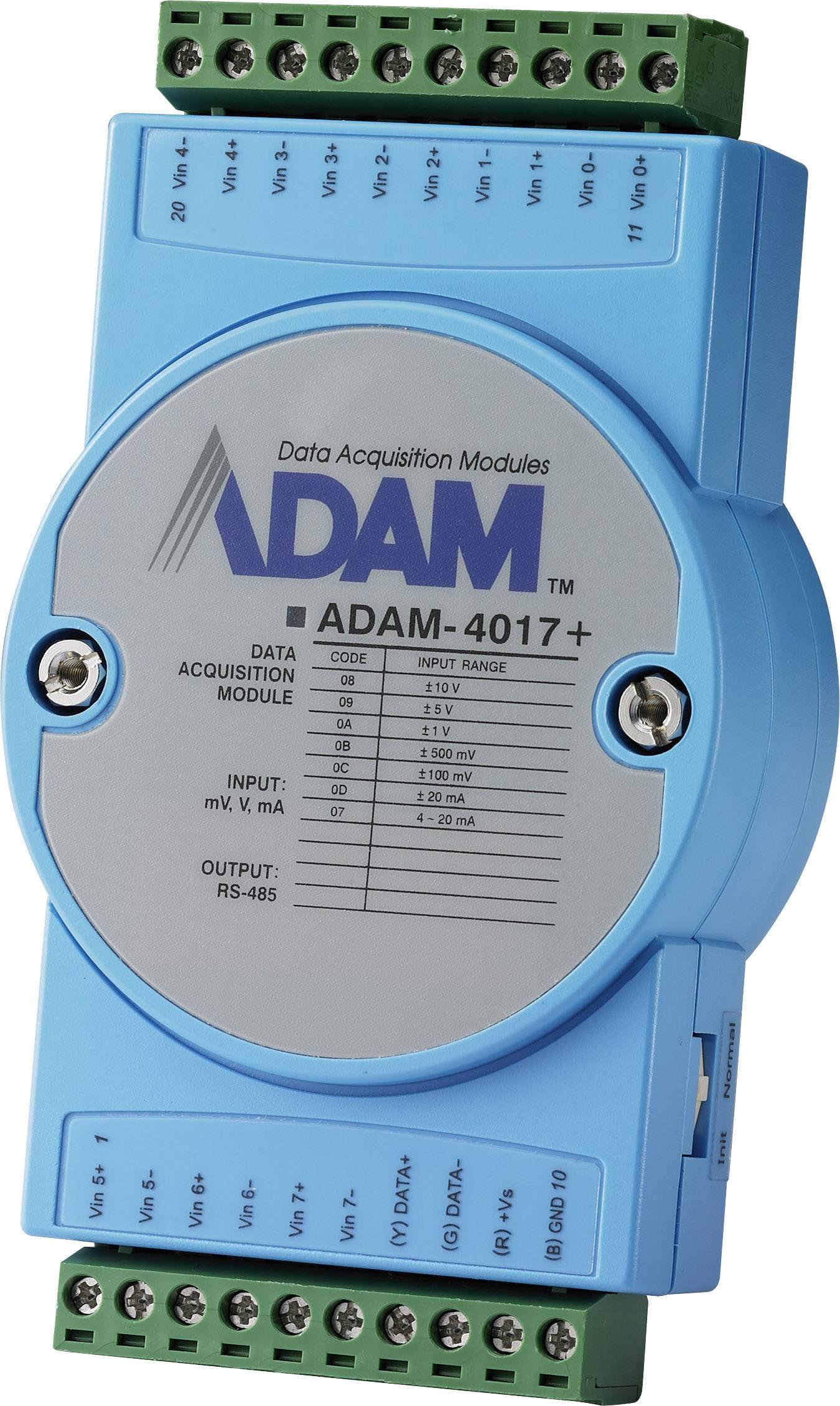 Vstupní modul analogové Advantech ADAM-4017+, počet vstupů: 8 x, 12 V/DC, 24 V/DC