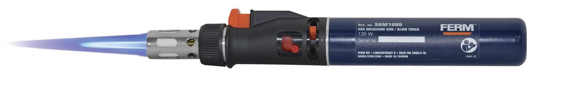 Plynová páječka Ferm SGM1006, 400 °C, 35 min piezo zapalovač