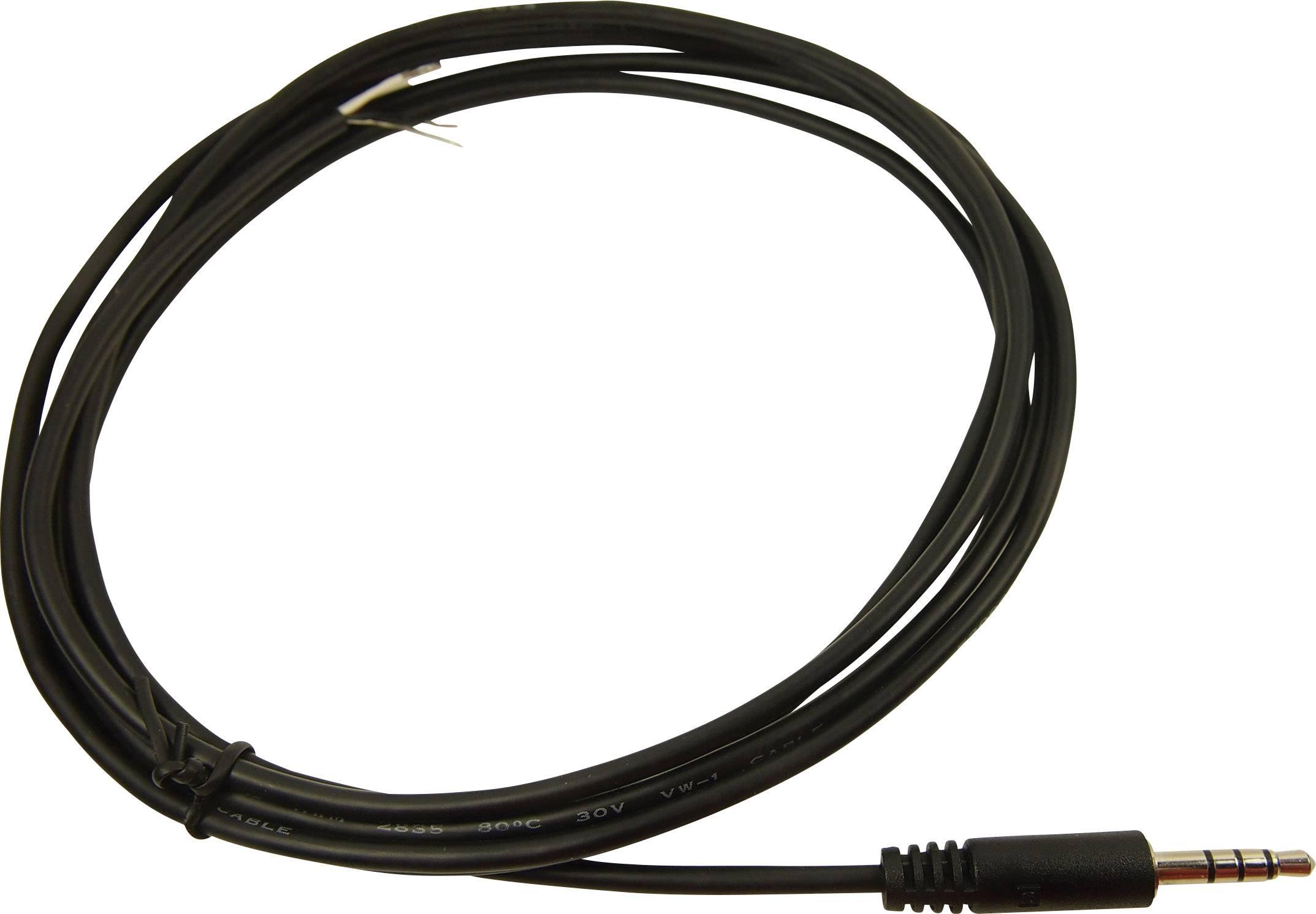 Pripojovací kábel jack jack zástrčka 3,5 mm - kábel, otvorený koniec Cliff FC68122C, stereo, pólů 4, FC68122C, 1 ks