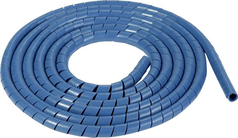 Špirálový káblový oplet HellermannTyton SBPEMC4-PE-BU-30M 161-46100, modrá, metrový tovar