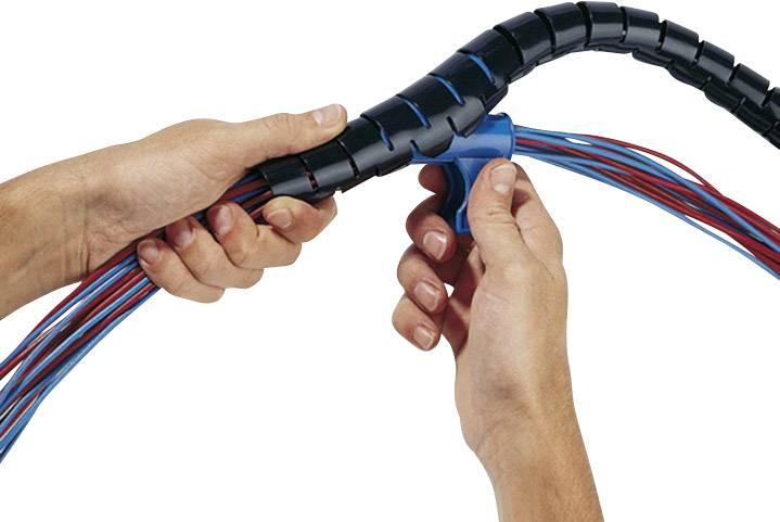 Organizér kabelů HellermannTyton HWPP-16MM-PP-BK-Q1 (161-64201), 0.80 mm, 16 mm, černá