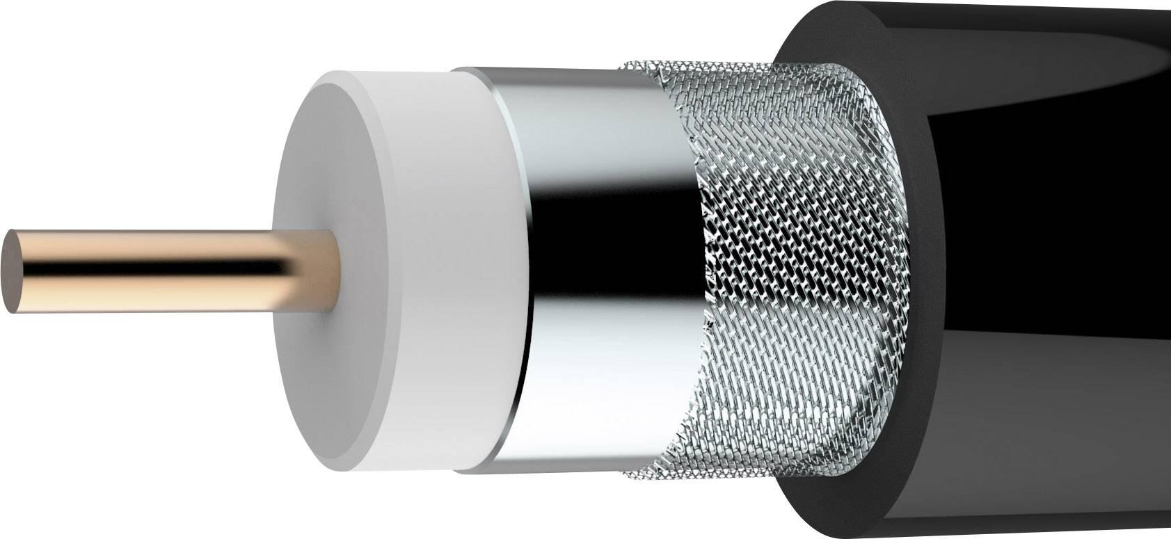 Koaxiálny kábel Axing SKB 11-03, 75 Ohm, metrový tovar, čierna