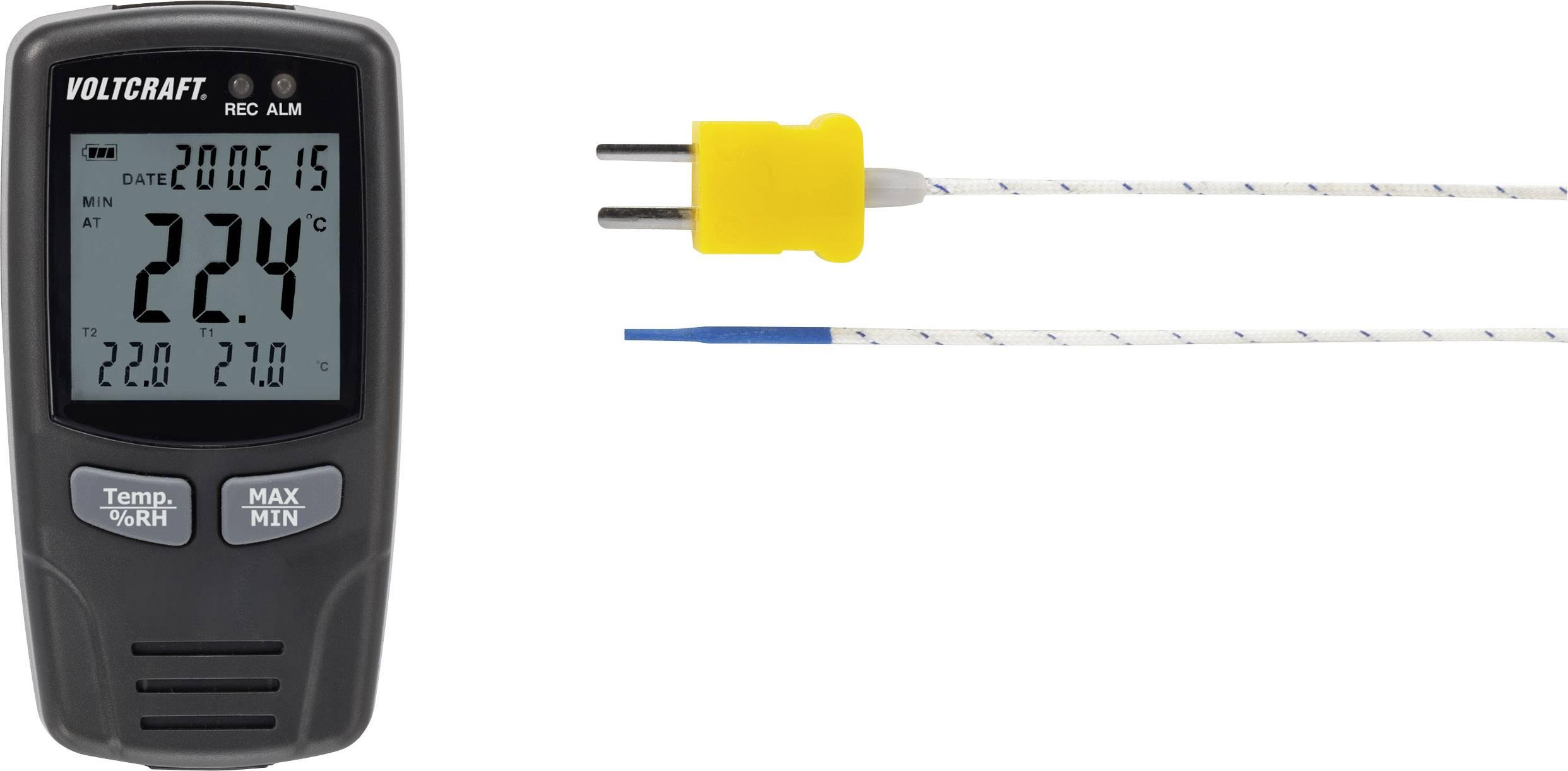 Multifunkční datalogger VOLTCRAFT DL-141 TH2K, pro měření teploty a vlhkosti vzduchu