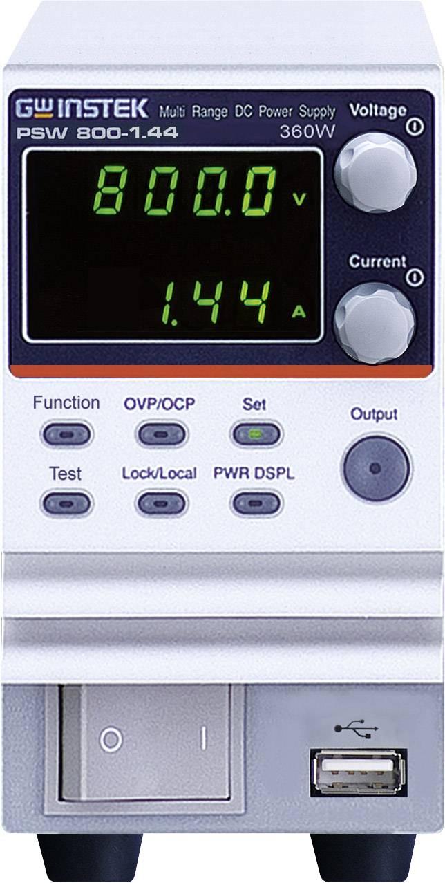 Laboratorní zdroj s nastavitelným napětím GW Instek PSW 800-1.44