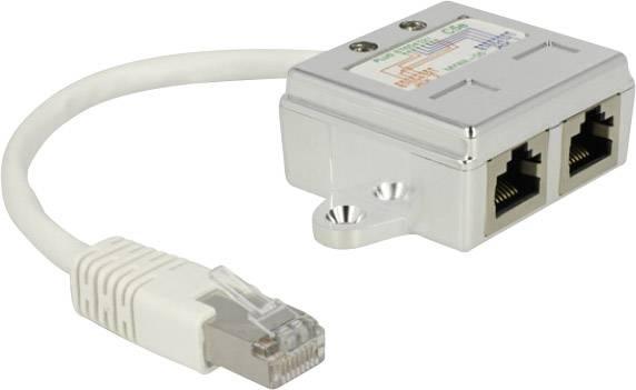 RJ45 adaptér sieťový Delock 65224 0.15 m, biela