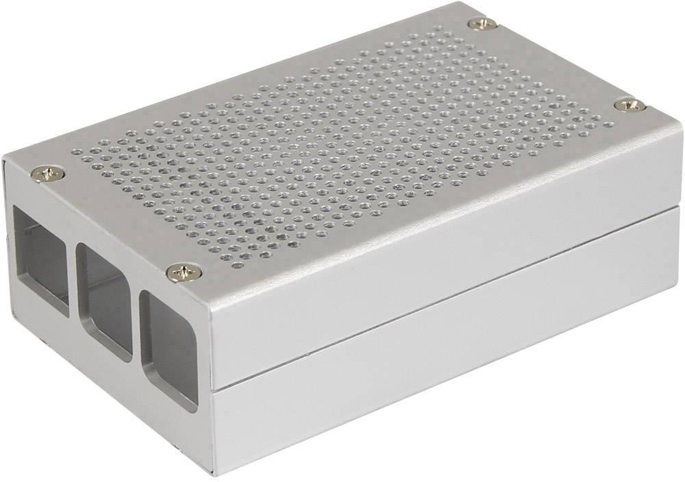 Kryt pro Raspberry Pi® Aluminium Gehäuse B+ / 2 B / 3 B
