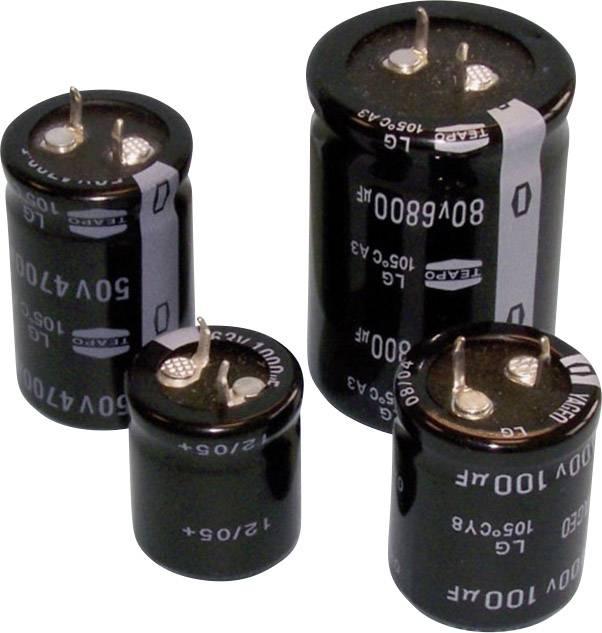 Elektrolytický kondenzátor Teapo SLG109M025S1A5Q40K, Snap In, 10000 µF, 25 V, 20 %, 1 ks