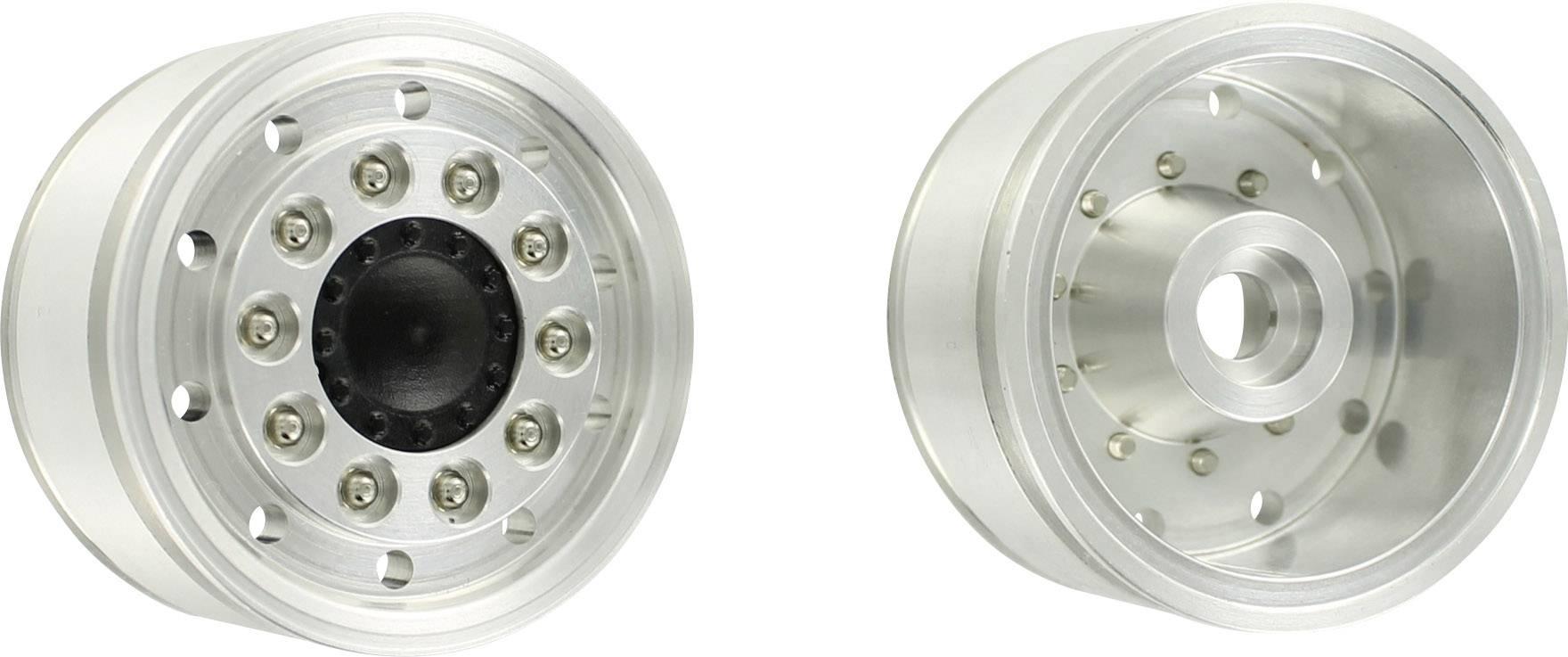 Hliníkové predné ráfiky na model ťahača Carson Modellsport 500907159, 1:14, 2 ks