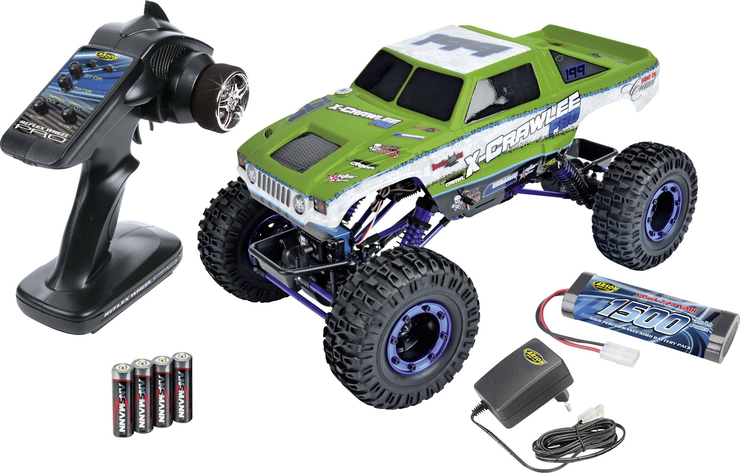 RC model auta elektrický Carson Crawley 1:10 Crawler 4WD 100% RTR 2,4 GHz