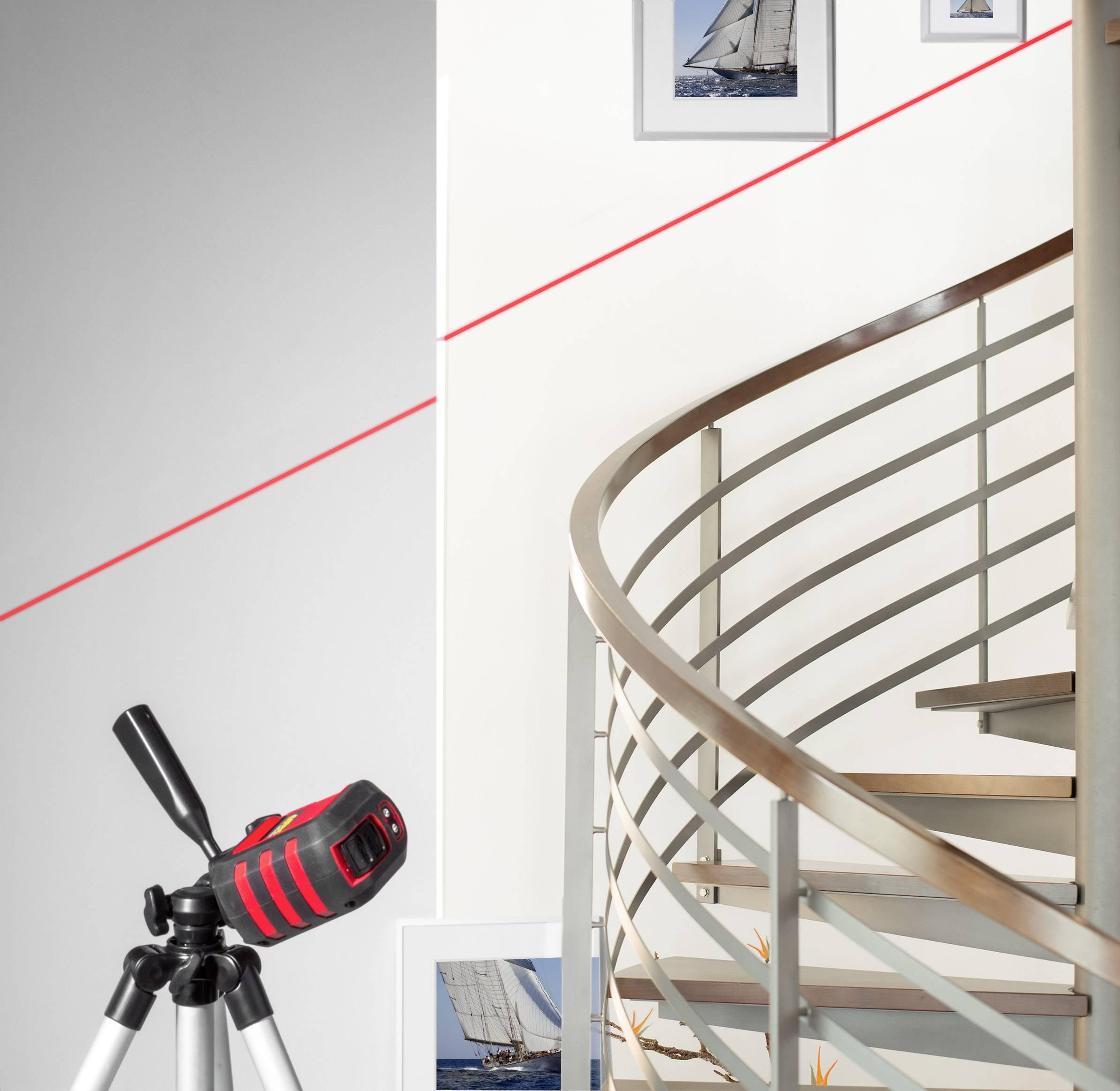 Křížový laser + stativ TOOLCRAFT CL8, 8 m
