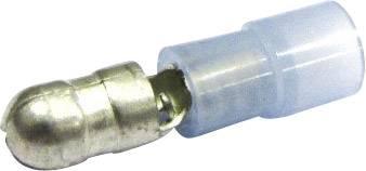 Kulatý faston Cimco 180302, 1.50 - 2.50 mm², Ø pin: 5 mm, částečná izolace, modrá (transparentní), 1 ks