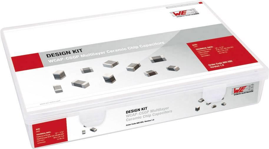 Sada keramických kondenzátorov SMD Würth Elektronik Kit 885050, 0402 6.3 V, 10 V, 16 V, 25 V, 50 V, 4320 ks