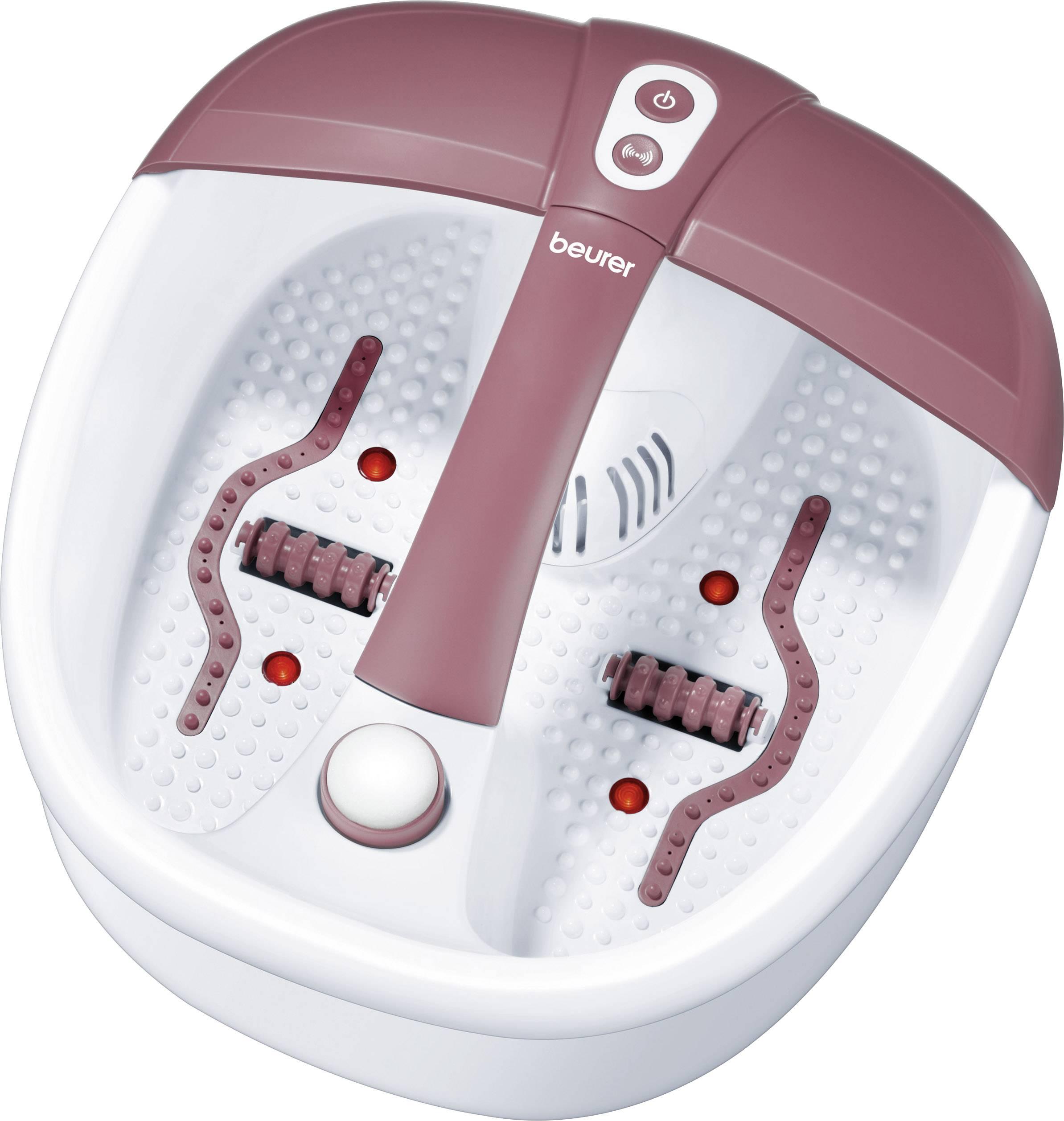 Perličková koupel na nohy s ohřevem vody a infra světlem 3v1 Beurer FB35, 140 W, bílá, červená