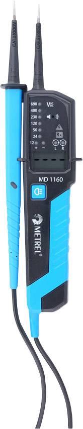 Digitálna skúšačka napätia Metrel MD 1160 12 až 690 V AC / DC LCD CAT III 1000 V, CAT IV 600 V