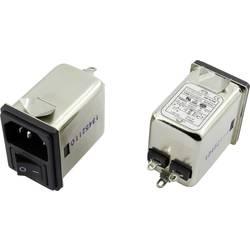 Odrušovací filtr Yunpen YR06A3 1326741, se spínačem, s IEC zásuvkou, 250 V/AC, 6 A, 0.7 mH, (d x š x v) 41.1 x 31.6 x 56 mm, 1 ks