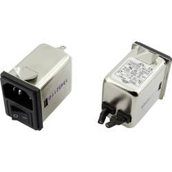 Odrušovací filtr Yunpen YR10A3 1326742, se spínačem, s IEC zásuvkou, 250 V/AC, 10 A, 0.3 mH, (d x š x v) 41.1 x 31.6 x 56 mm, 1 ks