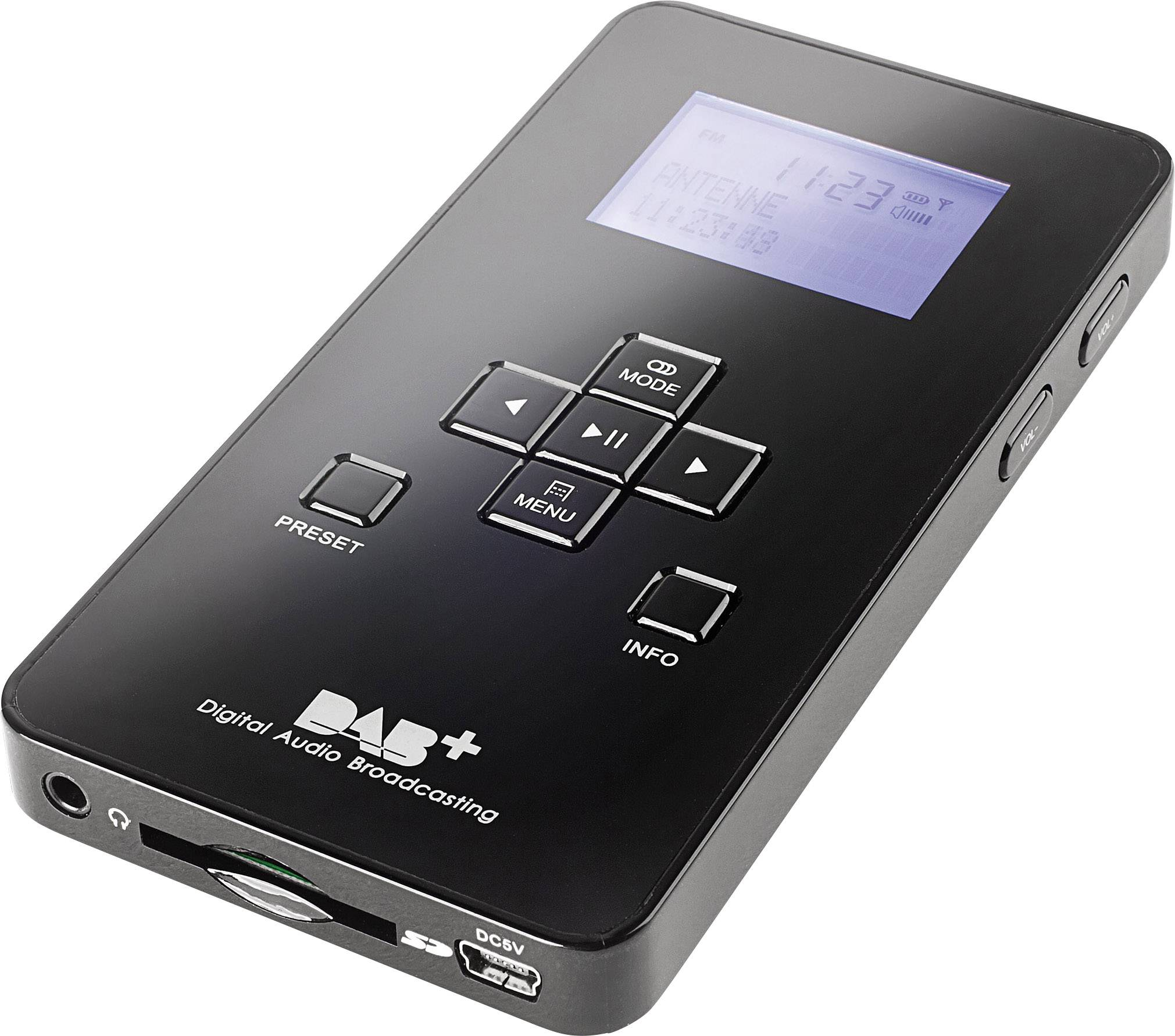 Prenosný DAB + rádio Dual Pocket Radio 3SD