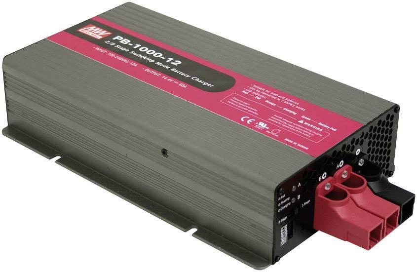 Nabíjačka olovených akumulátorov Mean Well PB-Akkulader 14,4V 60A PB-1000-12