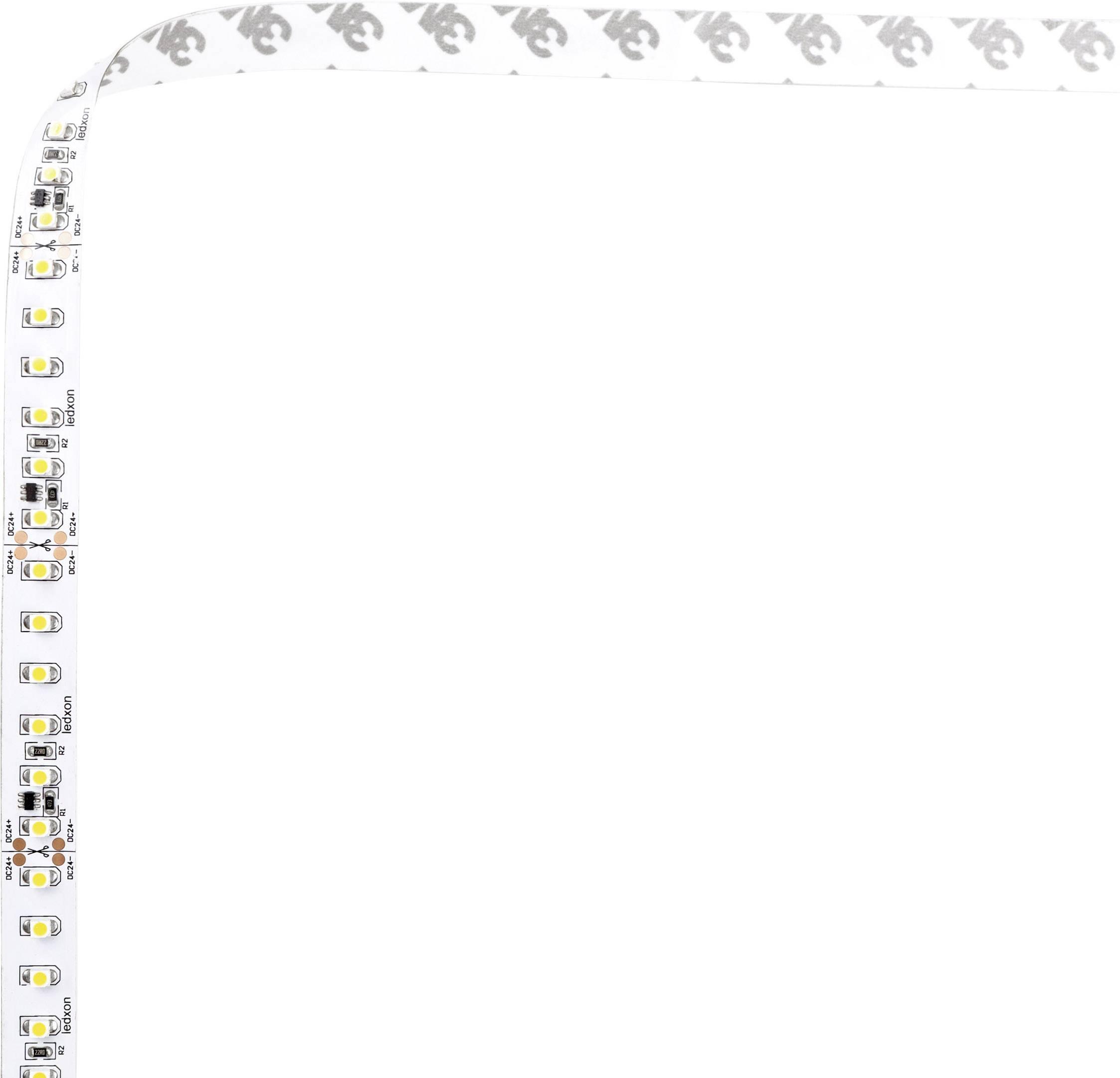 LED pásek ledxon Single SMD 120 LED IC IP20, ww 2400K 9009314, 24 V, teplá bílá, 5 cm